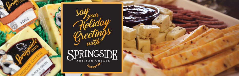 Say your holiday greetings with Springside Cheese